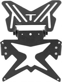 Bikemaster Aluminum License Plate Bracket - Black