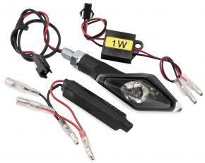 Bikemaster Alien Angle LED Turn Signals with Resistors - Black