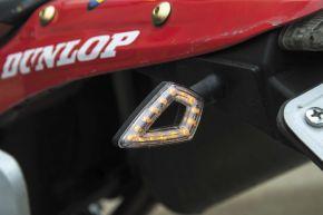 "Bikemaster Pointer LED Turn Signal - Black/Amber - 3"" x 1-3/8"" x 1/4"""