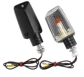 "Bikemaster Universal Marker Light Kit - MINI STALK,CLR LENS,AMBER BULB,BLACK SHE - Black - 3-7/16"""