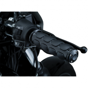Kuryakyn Black ISO®-Grips for Gold Wing