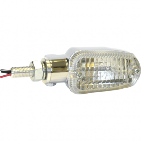 K and S Technologies Turn Signal - DOT&E-mark - Dual Filament - Chrome/Clear