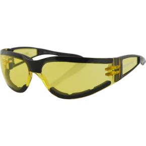 Bobster Shield II Sunglasses - Gloss Black - Yellow