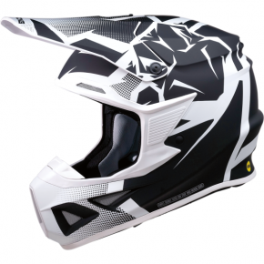 Moose Racing F.I. Agroid Helmet - MIPS - White/Black - Small