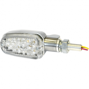 K and S Technologies Turn Signal - DOT&E-mark - Dual Filament - Aluminum/Clear