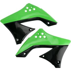 Acerbis Radiator Shrouds - KX 450 F - Green/Black