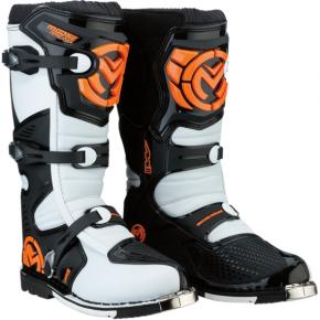 Moose Racing M1.3 MX Boots - Orange/White - Size 10