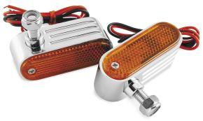 "Bikemaster Marker or Side Lights - 5/16 MOUNTING HOLE TWIN BULB-AMBER LENS - Orange/Amber - 5/16"" mounting hole"