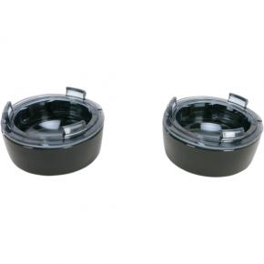 Kuryakyn Deep Dish Bezels - Black/Smoke Lens