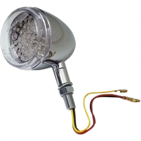 K and S Technologies DOT Turn Signal - LED Dual Filament - Clear/Chrome
