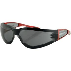 Bobster Shield II Sunglasses - Gloss Red - Smoke