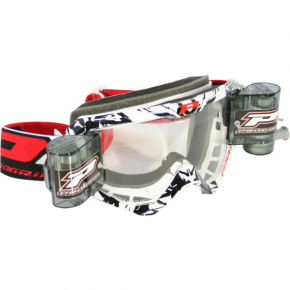 3450 Roll Off Goggles - White/Black - XL