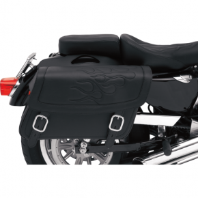 Saddlemen Flame Saddlebag - Black - Medium