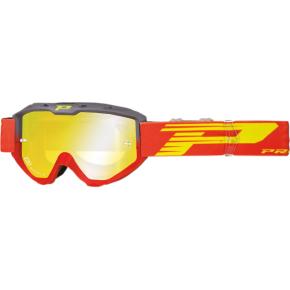3450 Riot Goggles - Gray/Red - Mirror