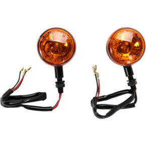 K and S Technologies DOT Turn Signal - Single Filament - Amber/Black