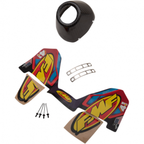 FMF RACING Carbon Fiber End Cap - Left - CRF250R/450R