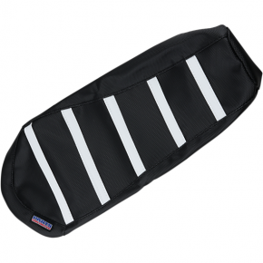 Parts Unlimited Ribbed Seat Cover - Black/White - Ski-Doo