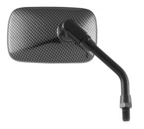 "Bikemaster Universal Mini-Carbon Fiber Mirror - Grey - 4-1/16"""