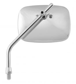 "Bikemaster Smooth Square Adjustable Mirror - Chrome - 4-5/16"""
