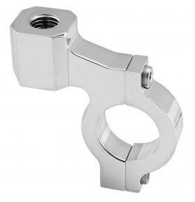 "Bikemaster Handlebar Mirror Adaptors for Lever Brackets - 1'' APPLICATIONS - Chrome - 1"""