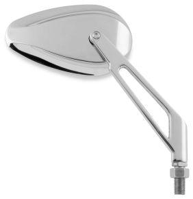 Bikemaster Wedge Stem Mini-Teardrop Mirror - Chrome - 10mm