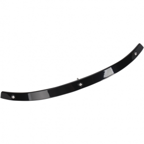 Kuryakyn Windshield Trim - Smooth - Black - FLHT