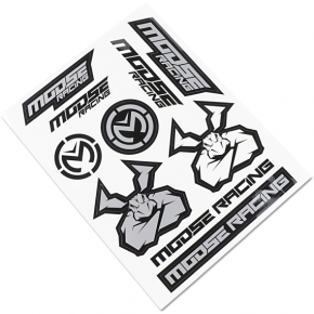 Moose Racing S2 Decal - Moose Racing - Black/Silver