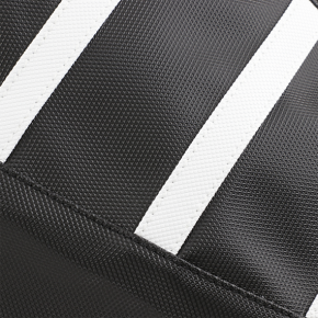 Parts Unlimited Ribbed Seat Cover - Black/White - Arctic Cat