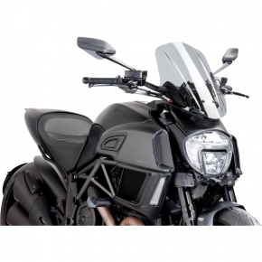 PUIG New Generation Windscreen - Smoke - Diavel