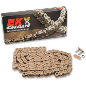 Enuma Chain (EK) 520 ZVX3 - Sportbike Chain- 150 Links - Gold