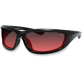 Bobster Charger Sunglasses  - Charger Sunglasses - Gloss Black - Rose
