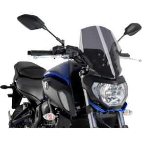 PUIG Race Windscreen - Dark Smoke - Tour - Yamaha
