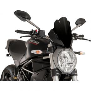 PUIG Race Windscreen - Black - Tour - Ducati