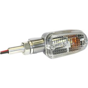 K and S Technologies Turn Signal - DOT&E-mark - Dual Filament - Aluminum/Clear