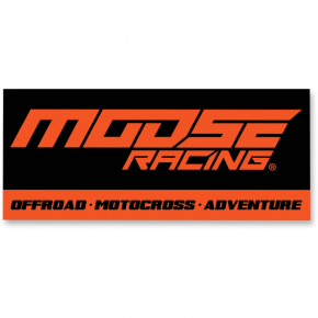 Moose Racing Track Banner - 7' - Black