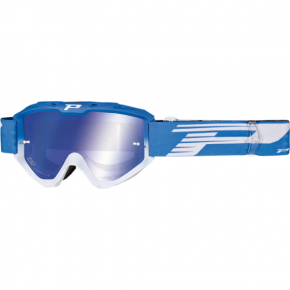 3450 Riot Goggles - Light Blue/White - Mirror