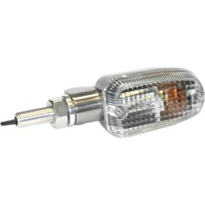 K and S Technologies Turn Signal - DOT&E-mark - Single Filament - Aluminum/Clear