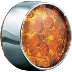 Kuryakyn Front Bullet LED Conversion - Chrome/Amber