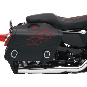 Saddlemen Flame Saddlebag - Red - Jumbo