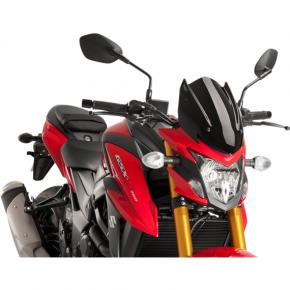 PUIG Naked Sport Windscreen - Black - Suzuki