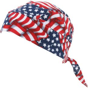 Tie-On Evaporative Cooling Flag Skull Cap