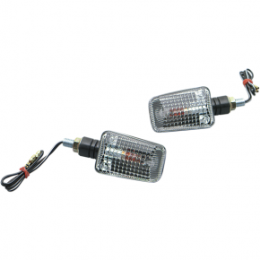 K and S Technologies DOT Marker Light - Ministalk - Black Clear