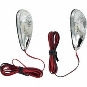 K and S Technologies Flush-Mount Mini Marker Lights - Chrome Red