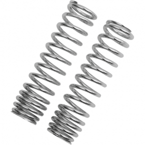 Progressive Suspension Shock Springs - 12-Series - Chrome - 90-130 lb/in