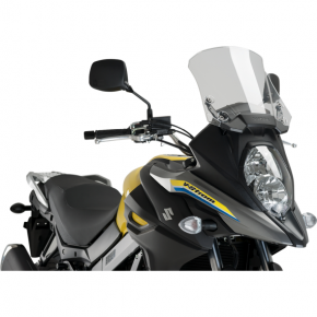 PUIG Protective Headlight Cover - Suzuki - Clear