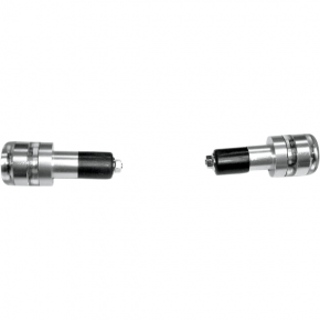 K and S Technologies LED Handlebar End Marker Lights - Silver - Amber LEDs