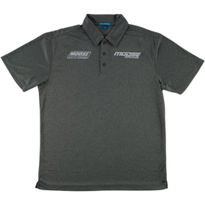 Moose Racing Polo Shirt - Charcoal Heather - 3XL