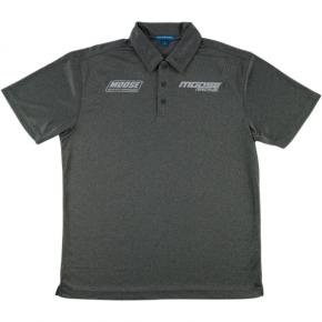 Moose Racing Polo Shirt - Charcoal Heather - Medium