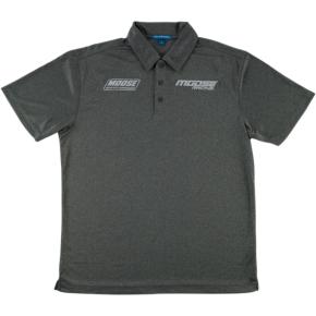 Moose Racing Polo Shirt - Charcoal Heather - XL