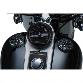 "Kuryakyn Alley Cat LED Fuel and Battery Gauges - Gloss Black -  3"" Diameter"